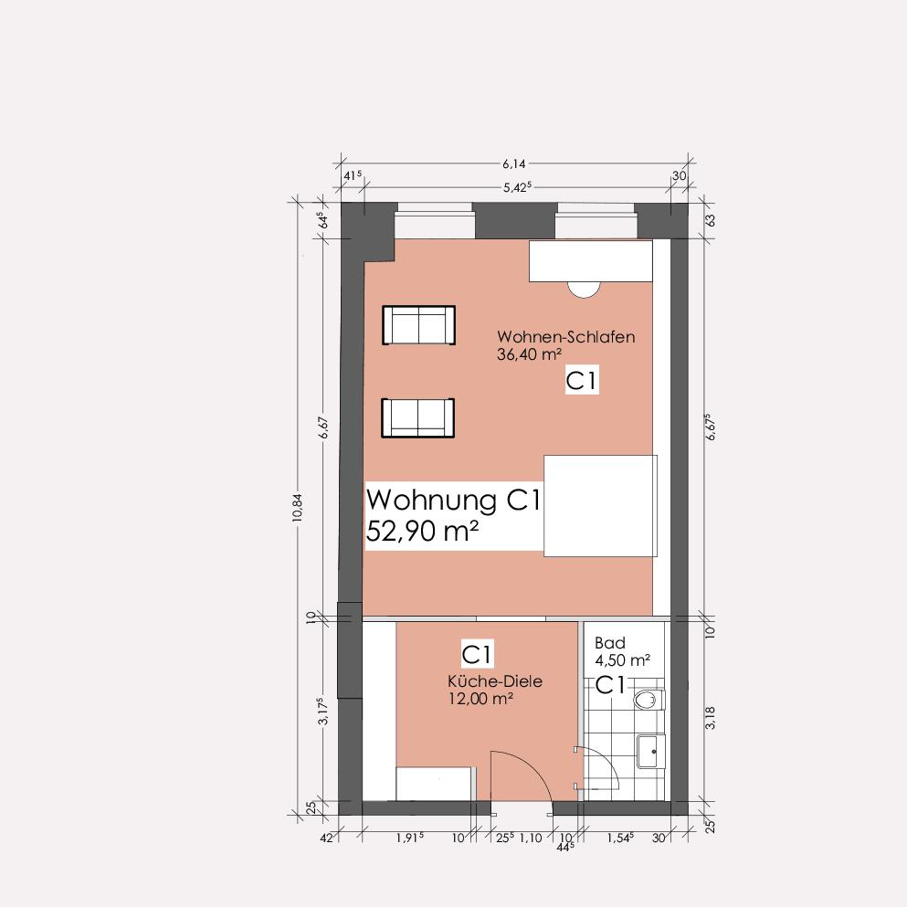 Wohnung C1 – Clemens-Carré Koblenz