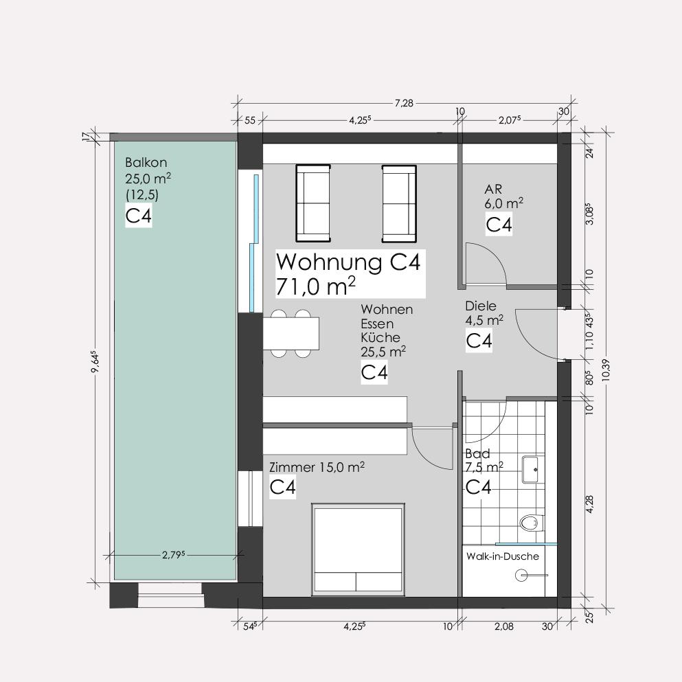 Wohnung C4 – Clemens-Carré Koblenz