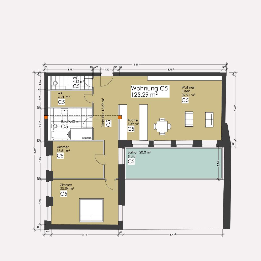 Wohnung C5 – Clemens-Carré Koblenz